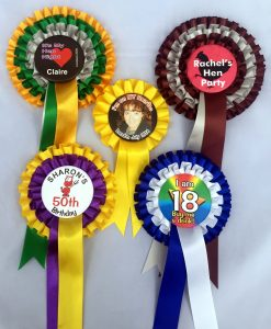 Customised Hen Party Rosettes